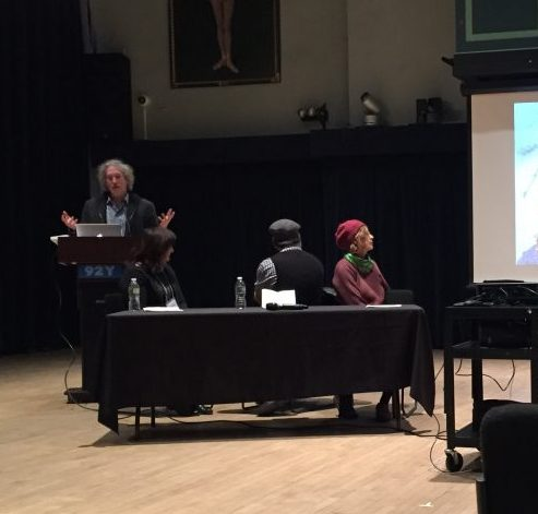 Dr. Ori Z. Soltes during his lectures on Robert Brandwayn´s artwork in New York